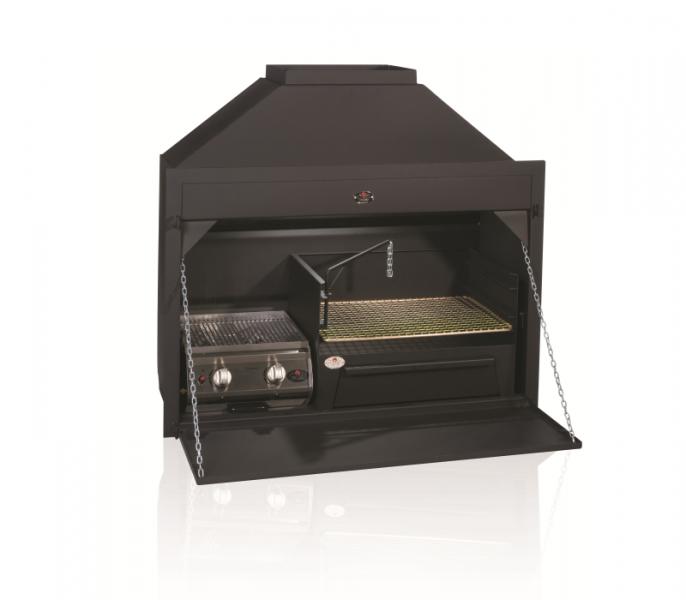 1200 Option A Gas Wood Combo - 2 burner