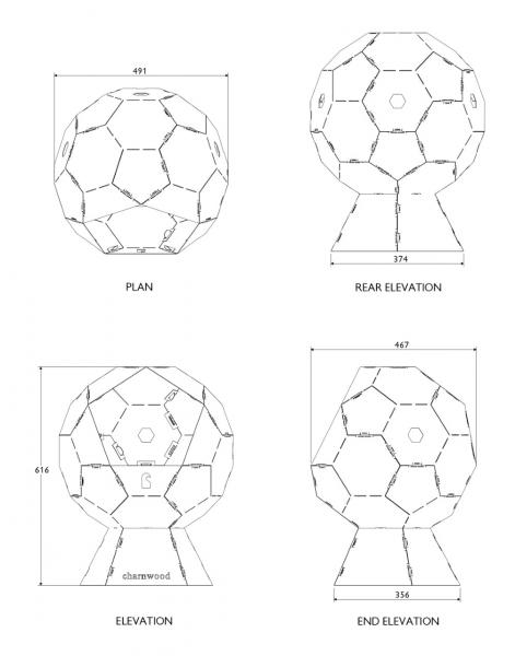 Kratki Fireball Dimensions